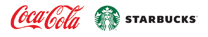 Coca Cola and Starbucks Strong Brand logo example